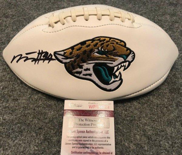 Myles Jack Autographed Signed Signed Jacksonville Jaguars Logo Football JSA COA