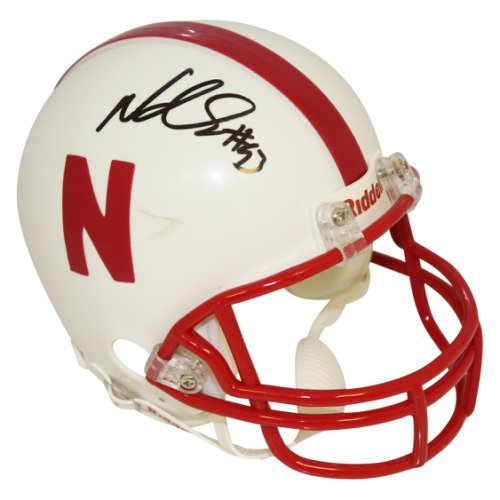 62220a1a479 Ndamukong Suh Nebraska Cornhuskers Autographed Signed Riddell Mini Helmet -  Certified Authentic