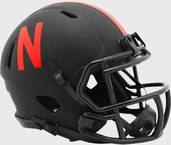 Nebraska Cornhuskers Mini Speed Football Helmet ECLIPSE