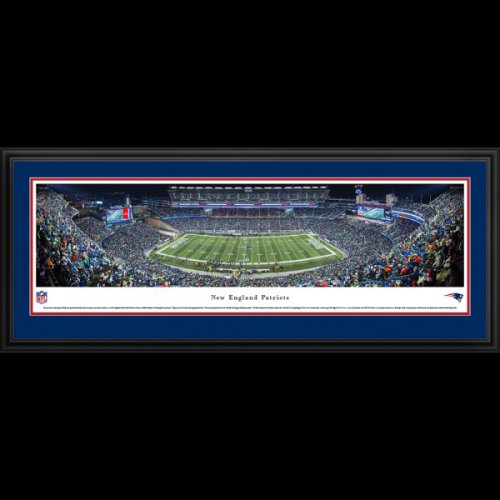 New England Patriots Deluxe Framed Stadium Panoramic