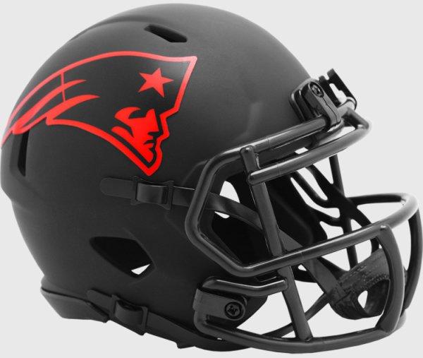 New England Patriots NFL Mini Speed Football Helmet ECLIPSE