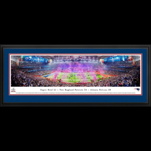New England Patriots (Super Bowl LI Champions) Deluxe Framed Panoramic Photo
