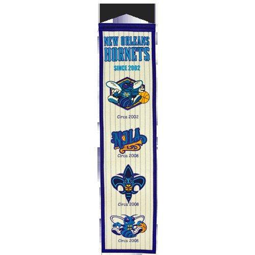 New Orleans Hornets Logo Evolution Heritage Banner