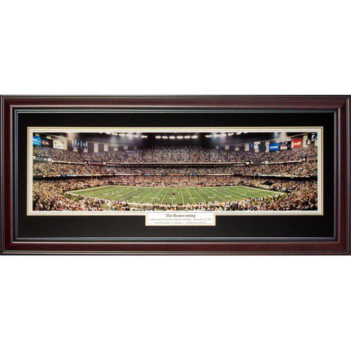 New Orleans Saints (The Homecoming) Deluxe Framed Panoramic Photo