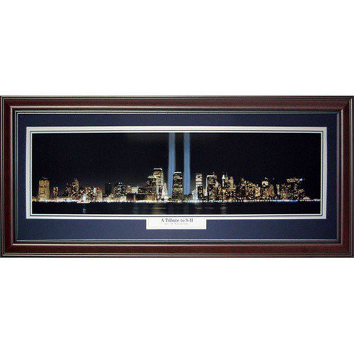 New York City (A Tribute to 9-11) Deluxe Framed Panoramic Photo