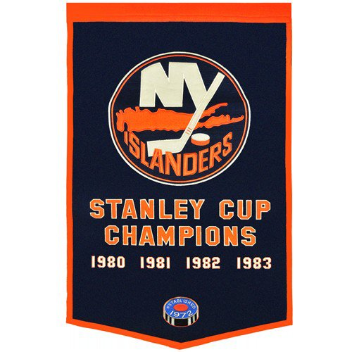 New York Islanders Stanley Cup Championship Dynasty Banner - with hanging rod