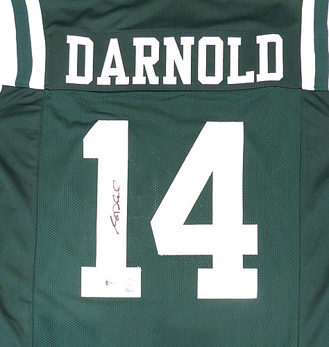 701125956 New York Jets Sam Darnold Autographed Signed Green Jersey - Beckett  Authentic