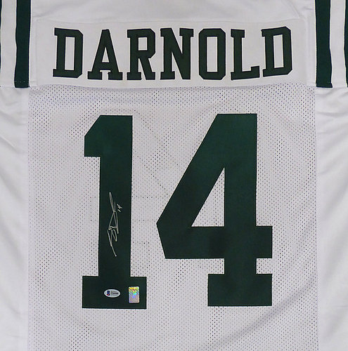 c2b7c45d6 New York Jets Sam Darnold Autographed Signed White Jersey - Beckett  Authentic
