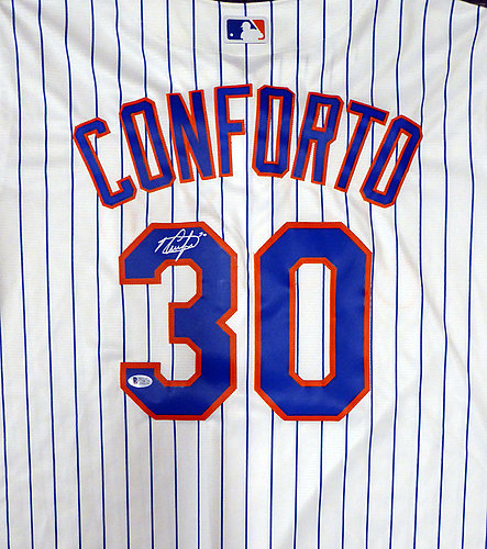 67cb3a9a7 New York Mets Michael Conforto Autographed Signed White Majestic Cool Base  Jersey Size XL - Beckett BAS Authentic