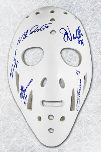 New York Rangers Autographed Signed by 6 Goalies Full Size Replica Mask