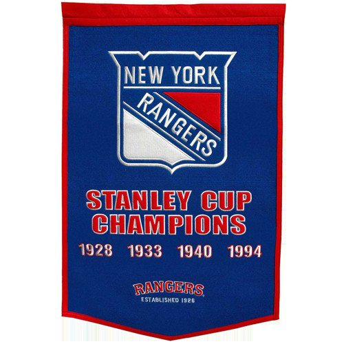 New York Rangers Stanley Cup Championship Dynasty Banner - with hanging rod