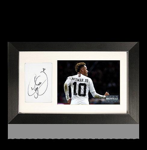 Signed Autograph Moura Lucas Psg: Neymar Jr Autographed Signed Card And Paris Saint-Germain