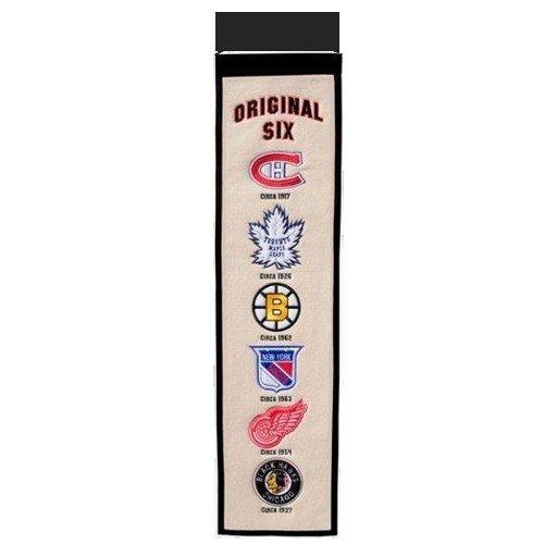 NHL Hockey Original Six Heritage Banner - Canadiens , Maple Leafs , Bruins , Rangers , Red Wings , Black Hawks