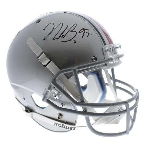 cb57c1133 Nick Bosa Ohio State Autographed Signed Full Size Riddell Replica Helmet -  JSA Certified Authentic