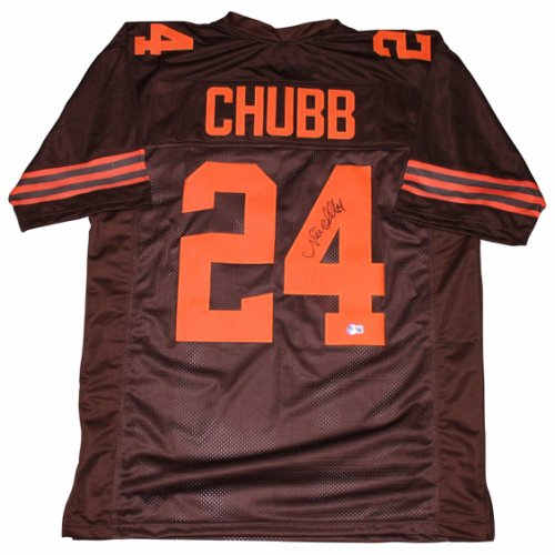 Nick Chubb Autographed Signed Cleveland Browns Brown Jersey - BAS Authentic