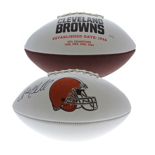 6dca41e5977 Nick Chubb Autographed Signed Cleveland Browns White Panel Football - JSA  Certified Authentic