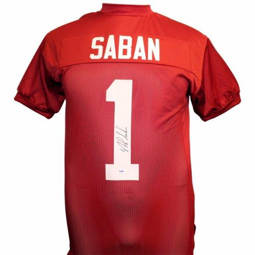 Nick Saban Autographed Signed Alabama Crimson Custom Jersey - PSA DNA  Authentic b7fe0909c