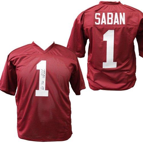 timeless design cf224 ac72a Nick Saban   Autographed Football Memorabilia & NCAA Merchandise