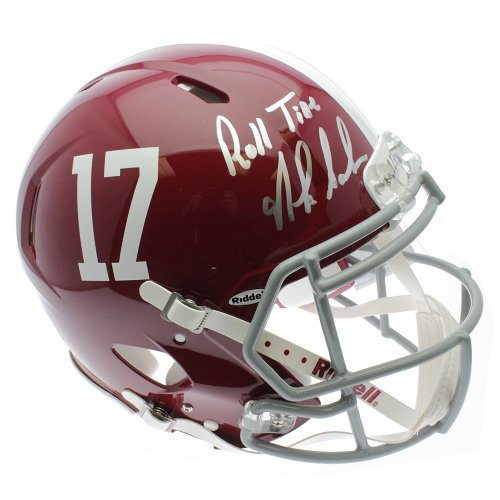 94e0d9d1 Nick Saban Autographed Signed Alabama Crimson Tide Mini Helmet ...