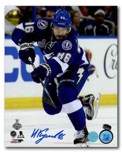 cd6fd1540 Nikita Kucherov Tampa Bay Lightning Autographed Signed 2015 Stanley Cup  Final 8x10 Photo - Certified Authentic