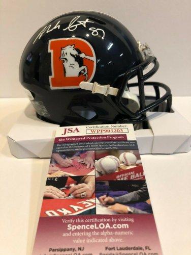 Noah Fant Autographed Signed Signed Denver Broncos Mini Helmet JSA COA