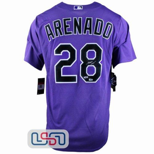Nolan Arenado Autographed Signed Authentic Purple Rockies Nike Jersey Fanatics Auth