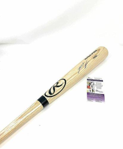 Nolan Arenado Autographed Signed St. Louis Cardinals Autograph Big Stick Blonde Bat JSA Cert