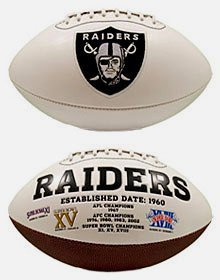 Oakland Raiders Embroidered Logo Signature Series Football