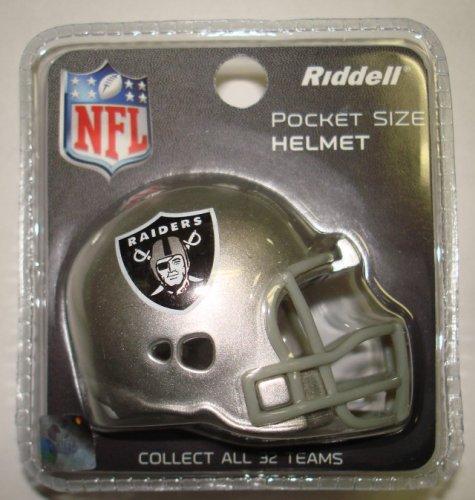 Oakland Raiders Riddell Pocket Pro Football Helmet