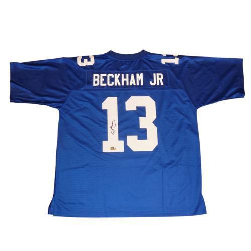Odell Beckham Jr. Autographed Signed New York Giants (Blue #13) Jersey - JSA