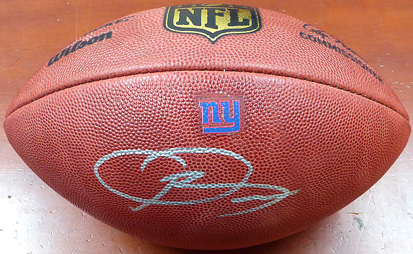 Odell Beckham Jr. Autographed Signed New York Giants Official NFL Leather Football - Beckett Certified