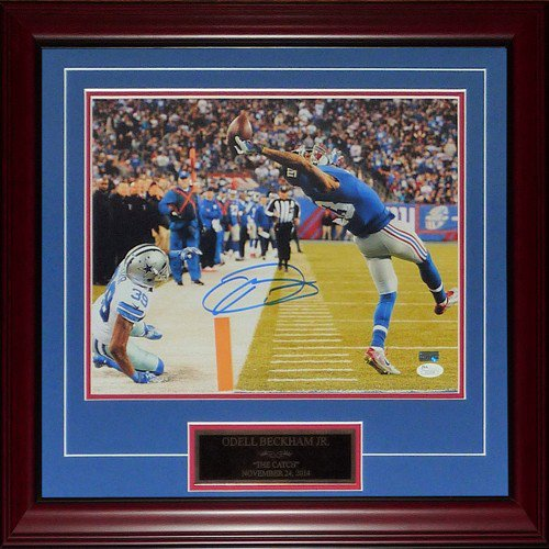 Odell Beckham Jr. Autographed Signed New York Giants (The Catch) Deluxe Framed 11X14 Photo - JSA