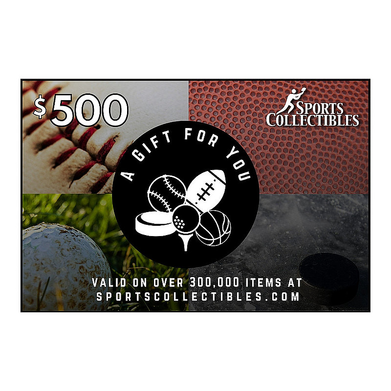 Official Sports Collectibles $500 eGift Card