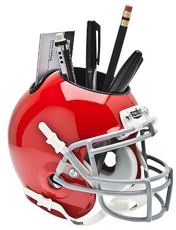 Ohio State Buckeyes Scarlet NCAA Football Schutt Mini Helmet Desk Caddy