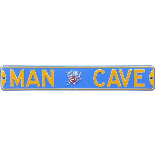 Oklahoma City Thunder MAN CAVE Authentic Street Sign