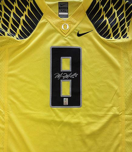 4aa95dba3ae Oregon Ducks Marcus Mariota Autographed Signed Yellow Nike Jersey Size XXL  MM Holo Stock #87162
