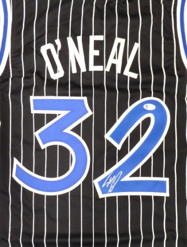 Orlando Magic Shaquille O'Neal Autographed Black Jersey Signed on #2 Beckett BAS