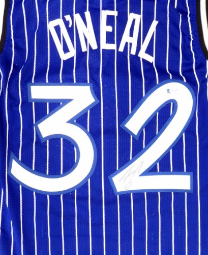 Orlando Magic Shaquille Shaq O'Neal Autographed Signed Blue Jersey Beckett BAS