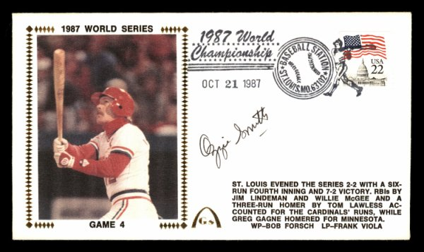 Ozzie Smith Autographed Signed First Day Cover St. Louis Cardinals 1987 World Series PSA/DNA #Z29959