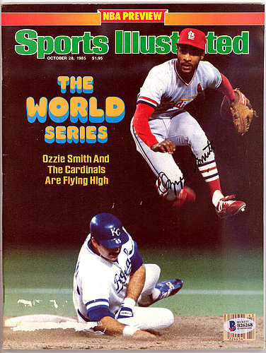 Ozzie Smith Autographed Signed Sports Illustrated Magazine St. Louis Cardinals - Beckett Certified