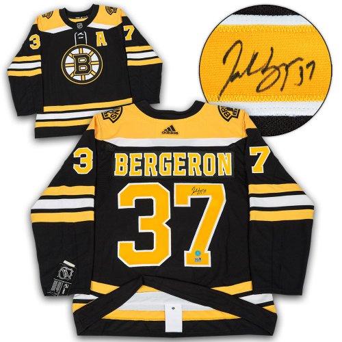 Patrice Bergeron Boston Bruins Autographed Signed Adidas Authentic Hockey  Jersey f70f237b5
