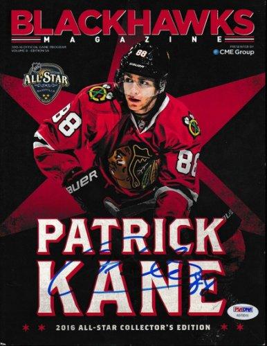 Patrick Kane Autographed Signed 2016 Blackhawks Magazine Autograph Auto PSA/DNA