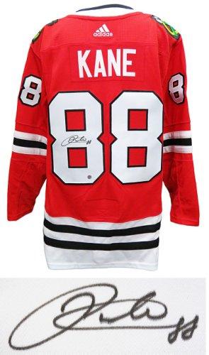 Patrick Kane Autographed Signed Blackhawks Red Pro Adidas Premier Jersey