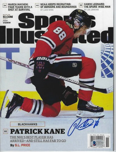 Patrick Kane Autographed Signed (Blackhawks) Sports Illustrated With Beckett COA (No Label)