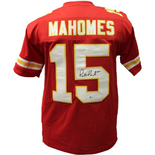 c7a2231b9 Patrick Mahomes Autographed Signed Kansas City Chiefs Jersey - Red Jersey - JSA  Authentic