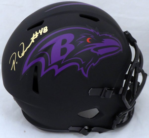Patrick Queen Autographed Signed Eclipse Black Baltimore Ravens Full Size Speed Replica Helmet Beckett BAS