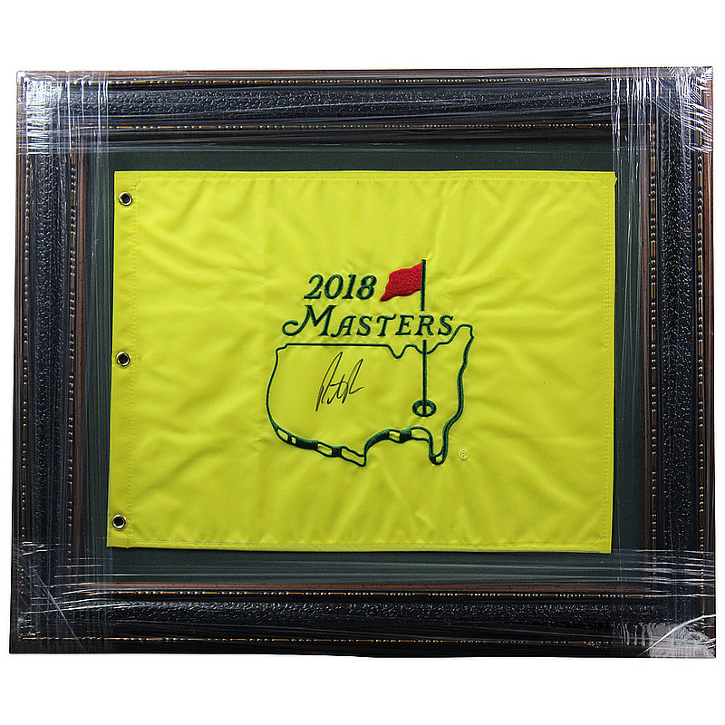 Patrick Reed Autographed Signed Premium Framed 2018 Masters Flag - Certified Authentic