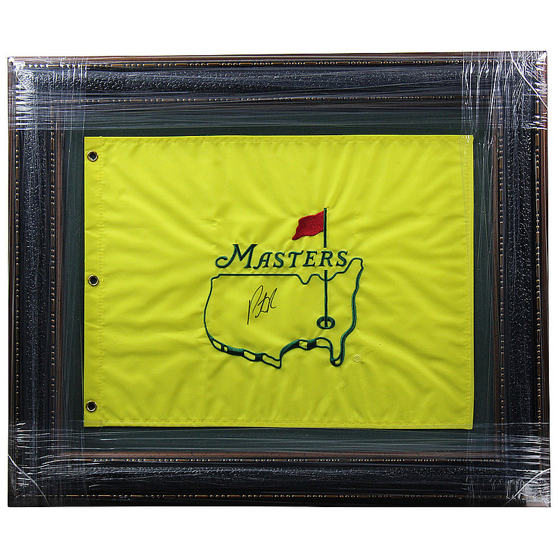 Patrick Reed Autographed Signed Premium Framed Undated Masters Flag - Certified Authentic