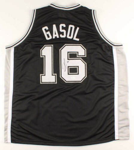 Pau Gasol Autographed Signed San Antonio Spurs Jersey (JSA COA) NBA Rookie Of The Year 2002