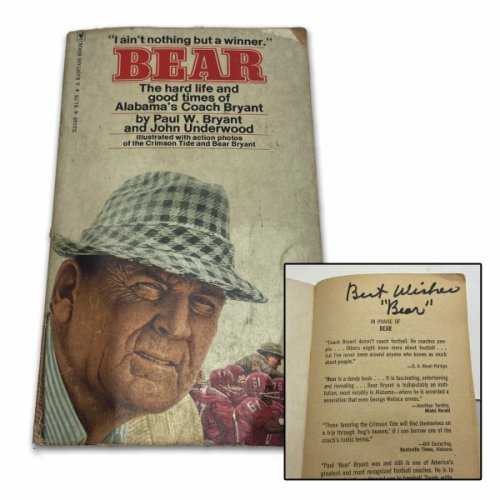 Paul Bear Bryant Autographed Signed Biography Bear - Missing Back Cover - BAS Authentic